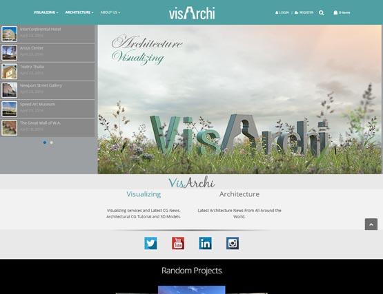 طراحی سایت شرکت معماری