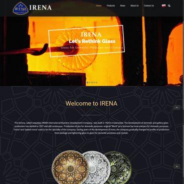 طراحی سایت کارخانه چینی و بلور Irena لهستان
