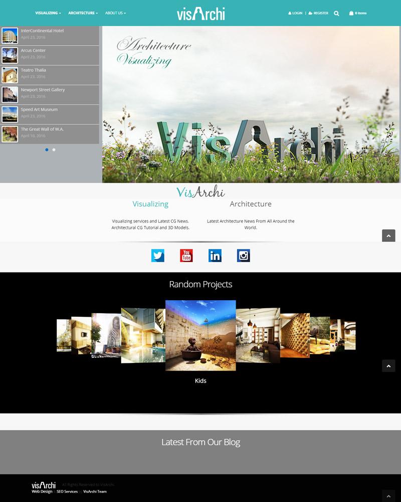 طراحی سایت گروه معماری و طراحی داخلی visarchi