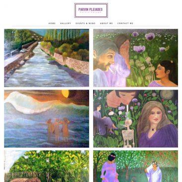 طراحی سایت گالری هنری خانم پروین ابلاغ