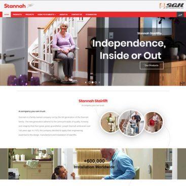 طراحی سایت شرکت بالابر stannah در امارات