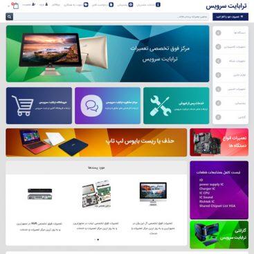 طراحی سایت شرکت ترابایت سرویس