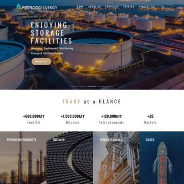 طراحی سایت نفت و گاز و محصولات پتروشیمی پترو انرژی
